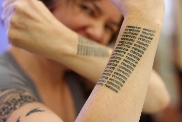 Best Binary Literary Tattoos in the Universe